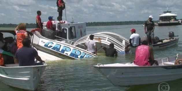 O barco Capitão Ribeiro transportava clandestinamente passageiros no rio