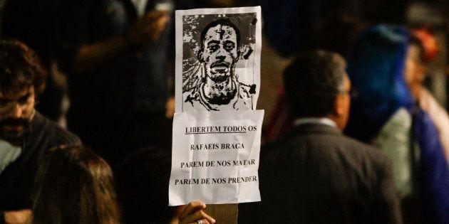 Movimentos sociais protestam contra prisão de Rafael