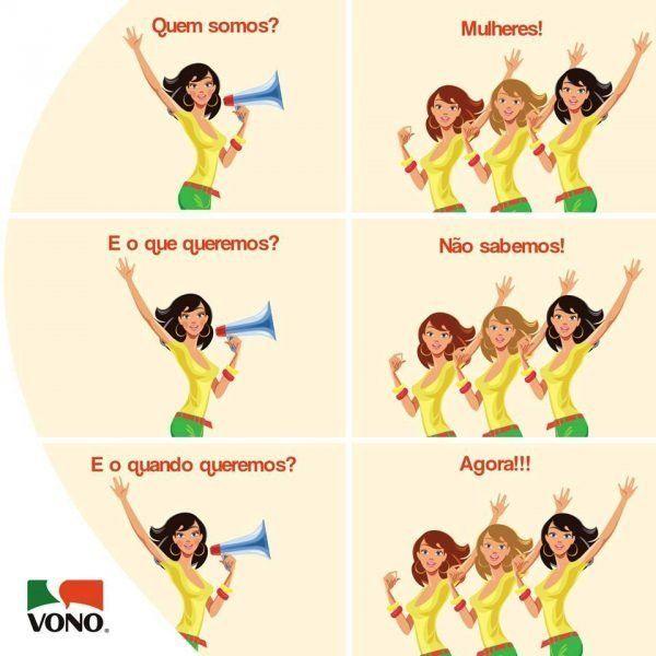 A campanha de Vono que foi retirada do ar após reclamações na fanpage da