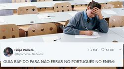 Este rapaz deu dicas (muito) úteis de português para o Enem no
