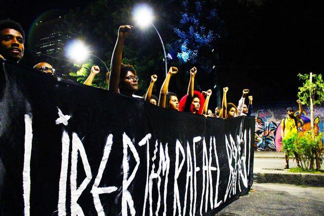 Imagem da marcha organizada pelo grupo em em 7 de agosto no centro do Rio de