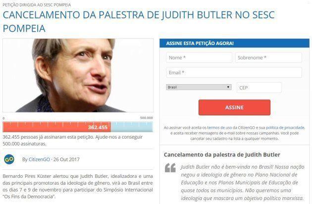 Judith Butler: 'As pessoas encontram conforto e segurança no