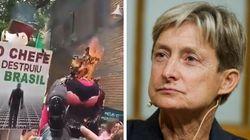 'Queimem a bruxa': O protesto que pede #ForaButler e é contra a 'ideologia de