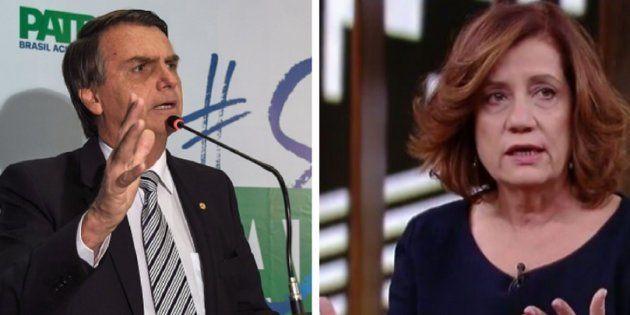 Jair Bolsonaro atacou Míriam Leitão após críticas da