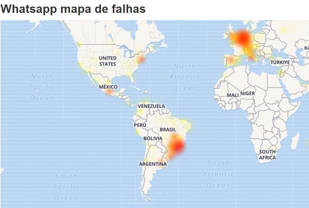 Whatsapp apresenta instabilidade e fica fora do ar no Brasil e outros