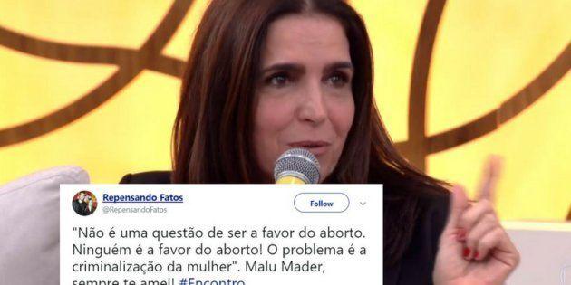 Atriz Malu Mader faz apelo contra retrocesso na legislação sobre aborto no