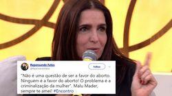 O discurso de Malu Mader sobre aborto e a criminalização da mulher