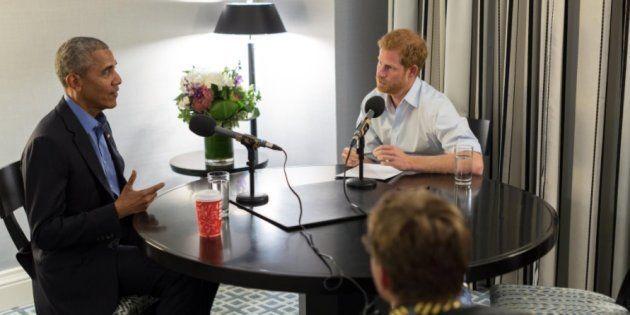 Príncipe Harry entrevista ex-presidente Barack