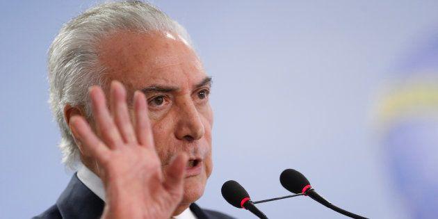 Michel Temer defende intervenção federal no Rio de