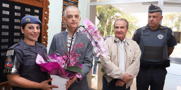 Cabo Kátia Sastre recebe homenagem do governador de São Paulo, Márcio França, no Dia das