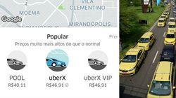 Preço de corridas de Uber dispara, e táxis da 99 'somem' com
