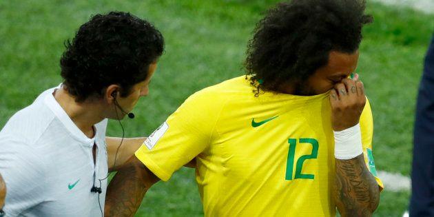 Marcelo deixou o campo chorando contra a Sérvia e é dúvida para pegar o