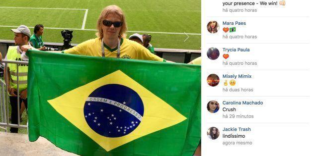 Russo recebeu uma avalanche de comentários em seu perfil no