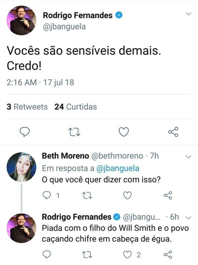 Esta 'piada' do comediante Rodrigo Fernandes levantou um novo debate sobre o que é