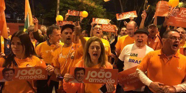 Militantes do Novo se queixam de ausência de João Amoêdo do debate da