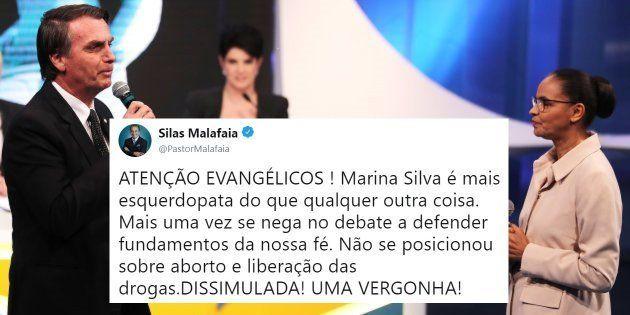 Bolsonaro e Marina protagonizaram momento mais tenso do debate da
