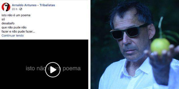 Arnaldo Antunes faz poesia do momento