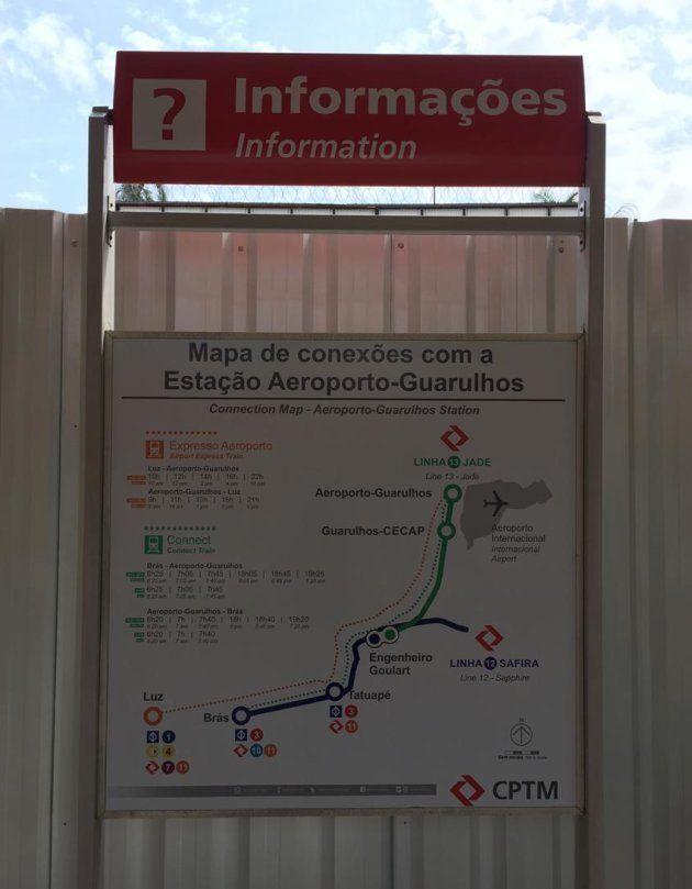 Mapa das conexões para o Aeroporto de