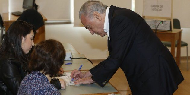 Michel Temer votou no início da manhã em Pinheiros, zona oeste de São