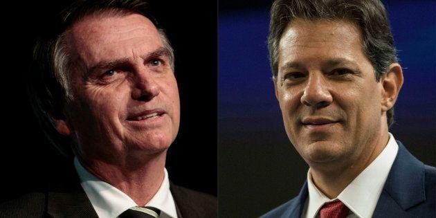 Bolsonaro e Haddad tiveram 77% de votos válidos nos estados em que conquistaram maior vantagem: Bolsonaro...