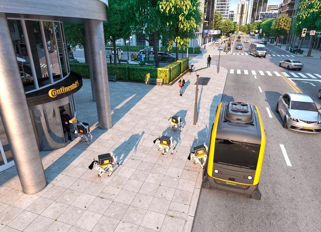 로봇 개가 택배를 배송하는 시대가 다가오고