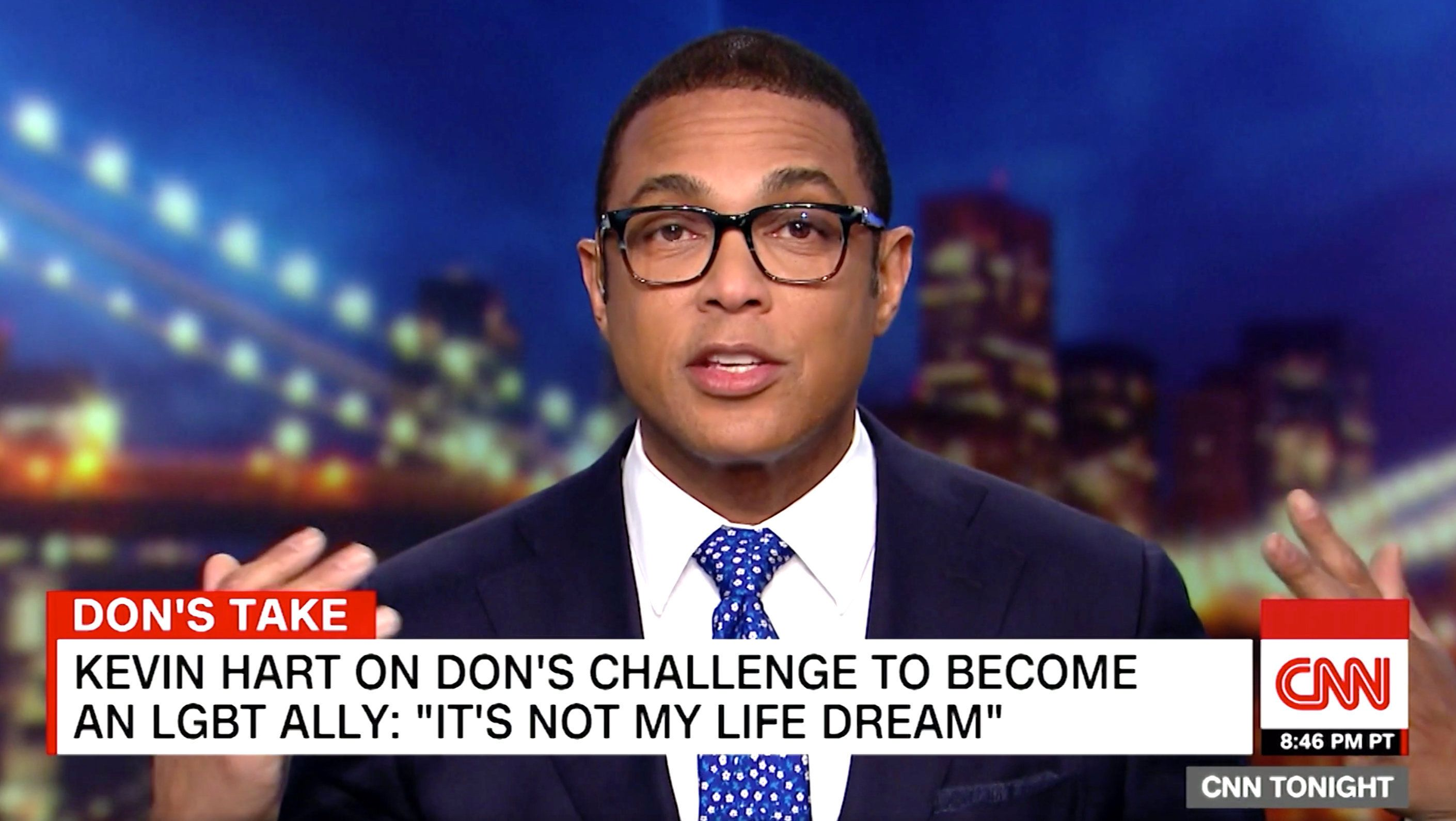 "CNN's Don Lemon is challenging Kevin Hart to appear on his show, suggesting he might be ""scared"" to accept the offer."