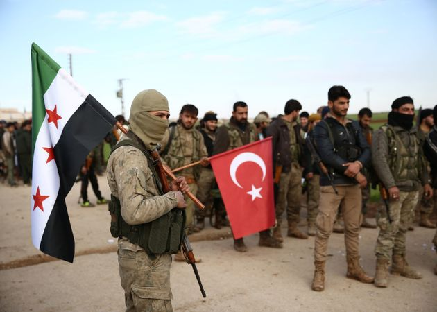 Von der Türkei unterstützte Kämpfer im Norden Aleppos.