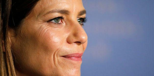 Marina Fois au festival de Cannes en 2018 à l'occasion de la présentation de la comédie...