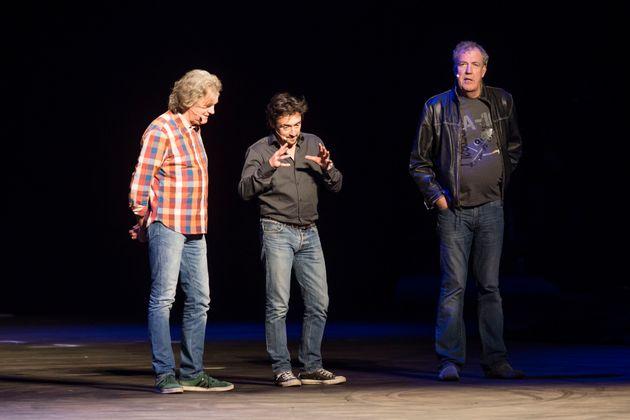 Clarkson with Richard Hammond and James