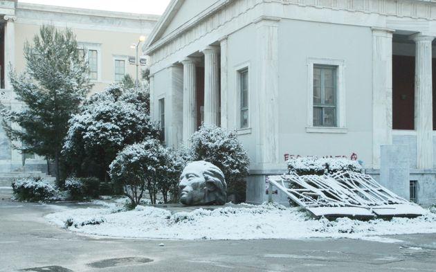 Χιόνια και στο
