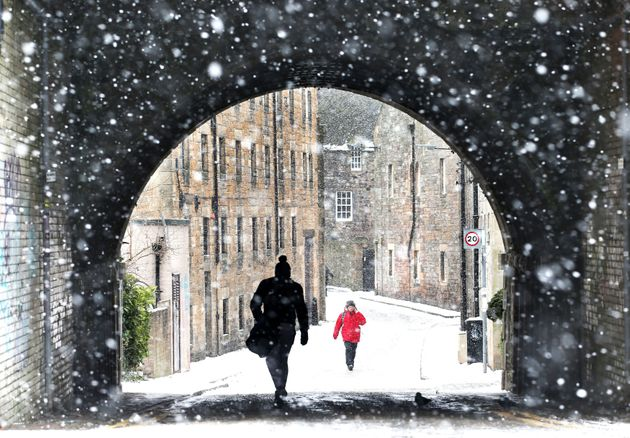 A snowy view of Holyrood, Edinburgh, as the Beast from the East brought wintry weather and freezing temperatures...