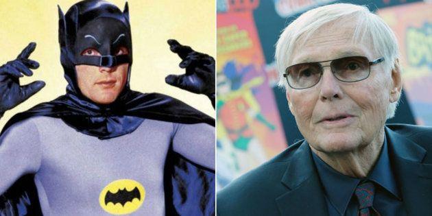 Ator americano Adam West, conhecido por interpretar o super-herói Batman na série de TV dos anos 1960,...