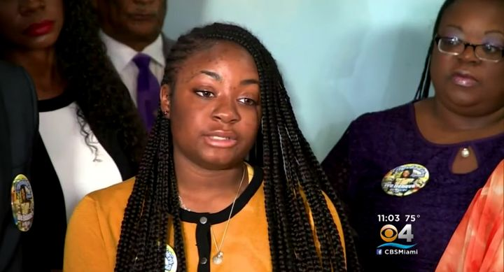 Florida teen Kamilah Campbell's SAT scores are under review by the College Board and the Educational Testing Service. (Screen