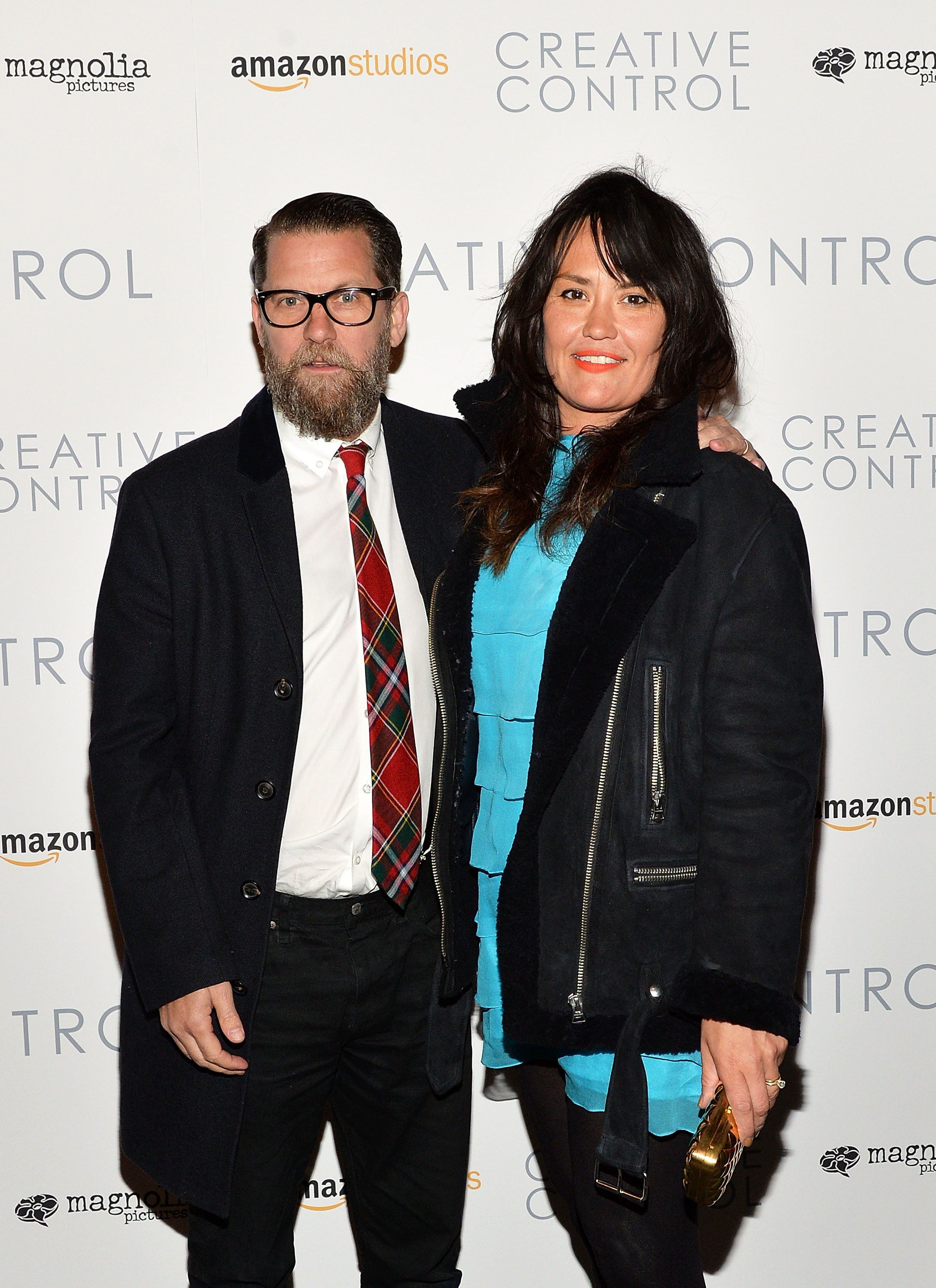 NEW YORK, NY - MARCH 03:  Gavin McInnes and Emily Jendrisak attend 'Creative Control' New York Premiere at Sunshine Landmark on March 3, 2016 in New York City.  (Photo by Slaven Vlasic/Getty Images)