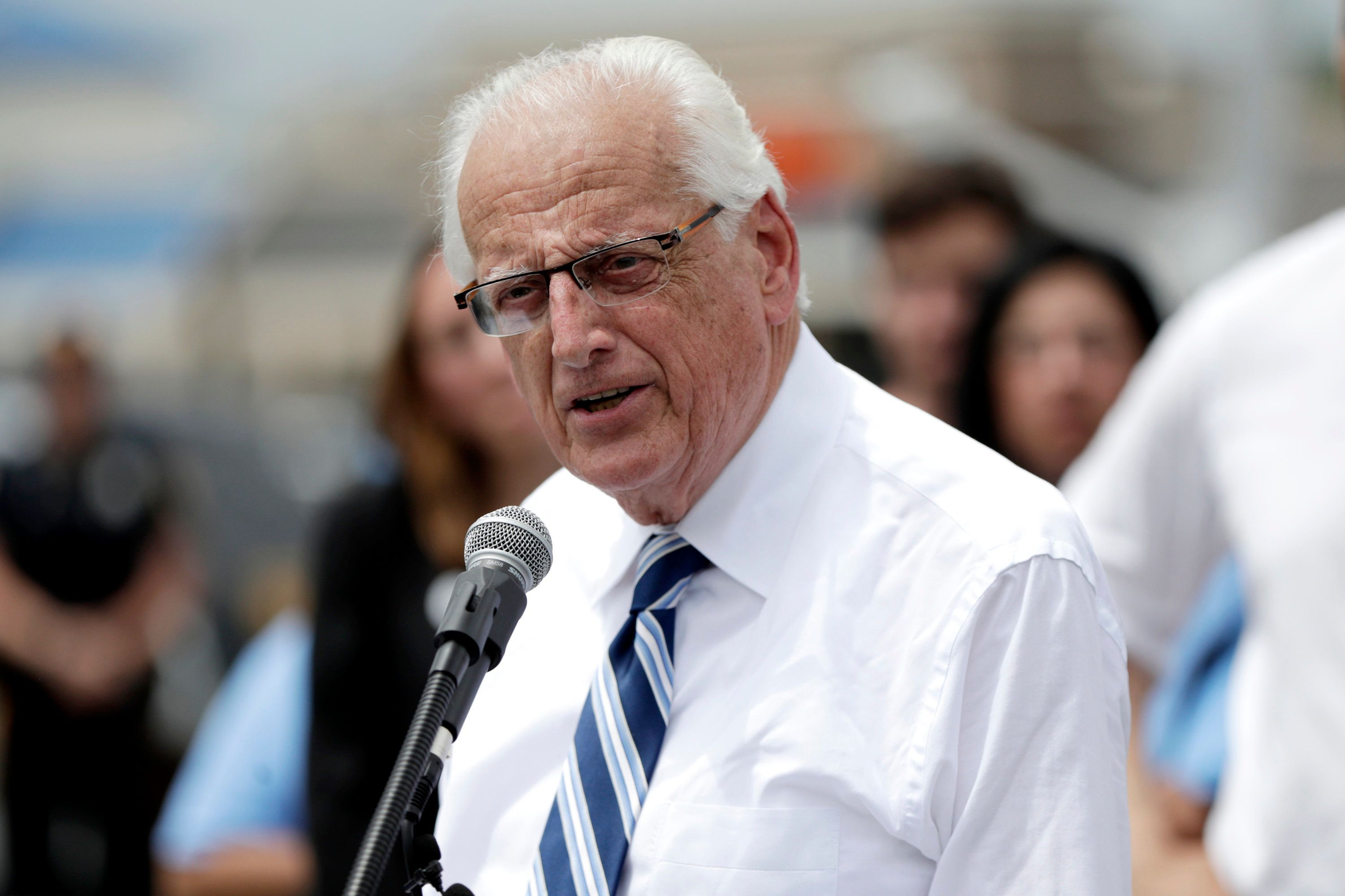 "FILE- In this June 1, 2018, file photo U.S. Rep. Bill Pascrell Jr., D-N.J., speaks during a news conference talking about the closing of Toys R Us outside of one of the store locations in Totowa, N.J. President Donald Trump faces the task of getting his own Congress to sign off on the U.S.-Mexico-Canada Agreement, which is meant to replace the 24-year-old North American Free Trade Agreement. ""It's going to be a very tough sell,'' said Pascrell, top Democrat on the House subcommittee that oversees trade issues. (AP Photo/Julio Cortez, File)"