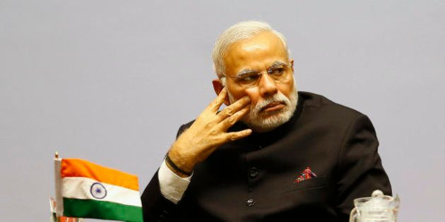 Indian Prime Minister Narendra Modi attends the 18th summit of the South Asian Association for Regional...