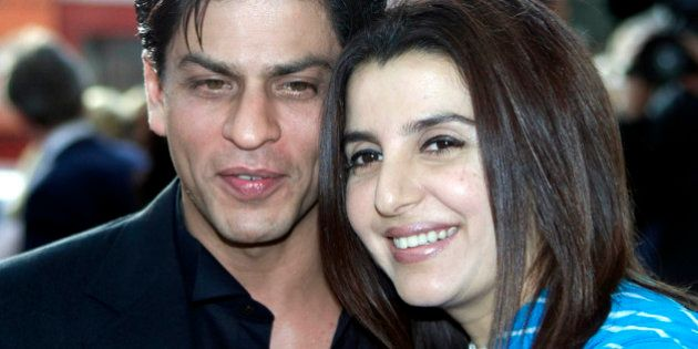 Indian film star Shah Rukh Khan with Farah Khan, right, the choreographer of Andrew Lloyd Webber's new