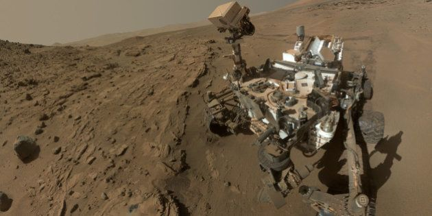 FILE - This file photo released on June 23, 2014 by NASA, shows NASA's Curiosity Mars rover self-portrait....