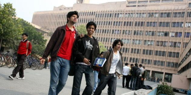 INDIA - FEBRUARY 10: Students are seen at IIT Delhi campus, India. (Photo by Money Sharma/The India Today...