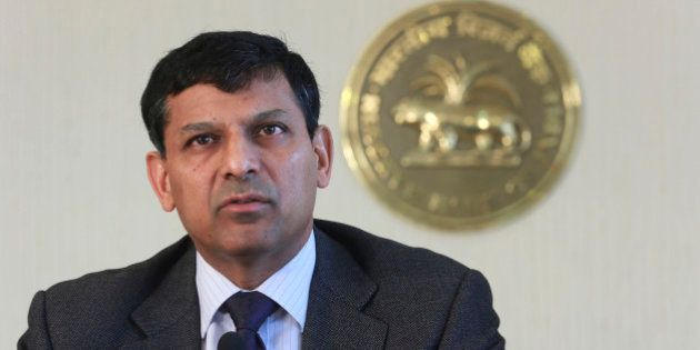 Reserve Bank of India (RBI) Governor Raghuram Rajan announces the first bimonthly monetary policy statement...