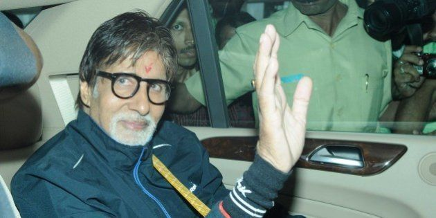 KOLKATA, INDIA - NOVEMBER 2: Bollywood actor Amitabh Bachchan arrived at kolkata Airport to shoot for...