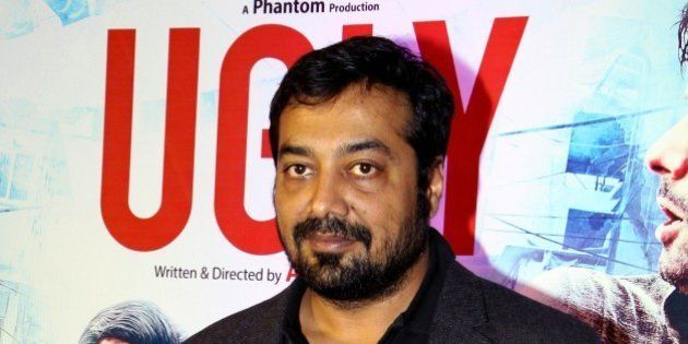 Indian Bollywood film director, screenwriter and producer Anurag Kashyap poses at the premier of Hindi...