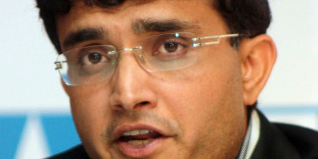 Former Indian cricket captain Sourav Ganguly speaks during a press conference in Calcutta, India, Wednesday,...