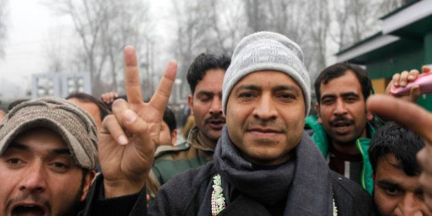 SRINAGAR, INDIA - DECEMBER 23: Peoples Democratic Party candidate from Sonawar constituency Mohammad...