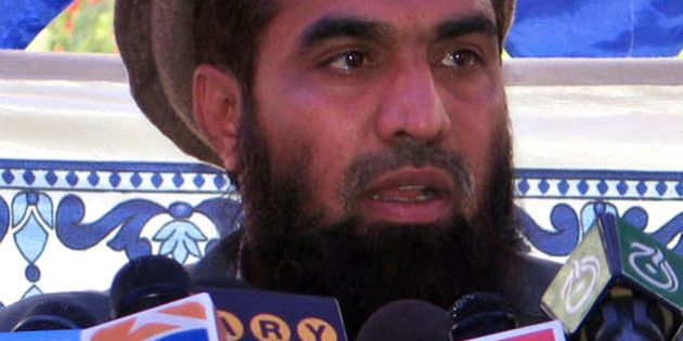 ** FILE ** In this file photo dated June 28, 2008, Pakistani Zaki-ur-Rehman Lakhvi speaks during a rally...