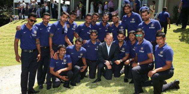 SYDNEY, AUSTRALIA - JANUARY 01: Australian Prime Minister, Tony Abbott poses for a photo with the Indian...