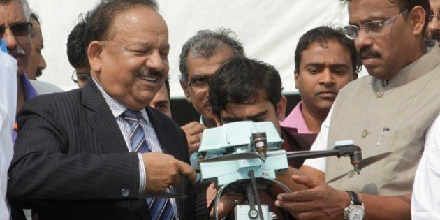 MUMBAI, INDIA - JANUARY 3: Union Minister for Science and Technology, Dr. Harsh Vardhan during the 102nd...