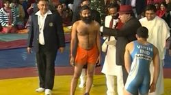 Ramdev, Wrestling In Orange Shorts, Says He Gets His Strength From Cow Milk