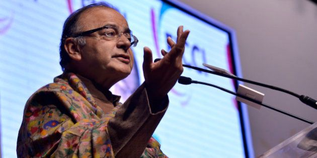 NEW DELHI, INDIA DECEMBER 20: Finance Minister Arun Jaitley addresses the inaugural session of FICCI's...