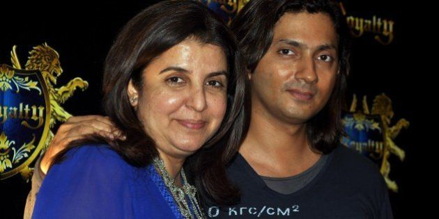 Indian Bollywood film director and choreographer Farah Khan with husband Shirish Kunder to attend the...